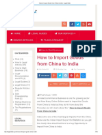 How to Import Goods From China to India - Legal Adda