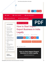 How to Start Import Export Business in India Legally