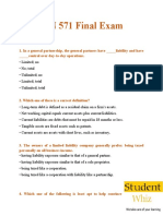 FIN 571 - FIN 571 Final Exam Questions & Answers