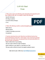 LAW 421 - LAW 421 Final Exam Questions & Answers - Studentwhiz