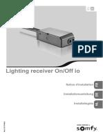 Notice Installation Recepteur Lumiere Io on-Off
