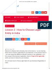 Lesson 2 _ How to Choose Legal Entity in India - Legal Adda