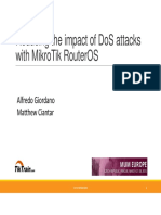 Reducing the Impact of Dos Attack With Mikrotik ROS