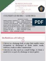 CULVERT in English