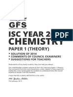 ISC 2014 Chemistry Theory Paper 1 Solved Paper