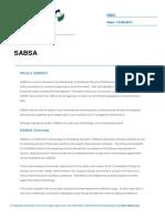 Sabsa - A Introduction