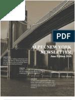 ALPFA NY Chapter Newsletter June Edition