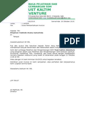 012 Surat Penagihan Invoice Outbound Training