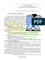 1.9 Ficha Formativa Tipos e Polaridade de Frases 1 Soluções
