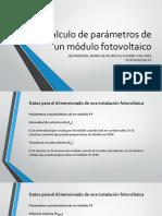 Parametros modulos FV