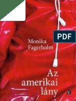 Az Amerikai Lany - Fagerholm Monika