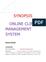onlineclinicsynopsis docx