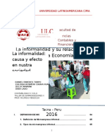 Informalidad en El Peru