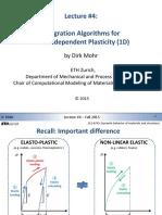 Lecture 4 (Dirk Mohr, ETH, Integration Algorithms in Plasticity)