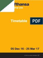 LH Timetable 2016
