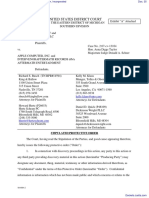 Eight Mile Style, LLC et al v. Apple Computer, Incorporated - Document No. 35