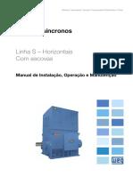 WEG Motores Sincronos Com Escovas 11568847 Manual Portugues Br