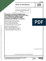 DIN EN 755-2 (2009) PARTE 2-2
