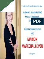2016-12-01-Annonce Meeting Marion Maréchal Le Pen