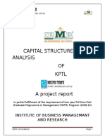 43489878 Capital Structure Analysis