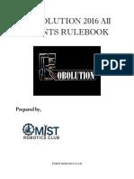 Robolution 2016 Rule Book