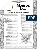 HARP-Martial Law Optional Rules Checklist