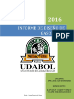 Informe de Diseño de Gasoducto