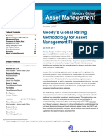 Moody's Methodology for Asset Management Firms