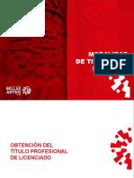 modalidad de titulación por tesis para la obtención de la Licenciatura en Artes Plásticas y Visuales y la Licenciatura en Educación Artística