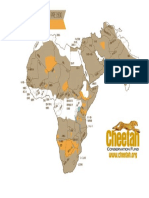 Cheetah Range Map