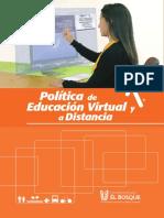 Politica Educacion Virtual Distancia