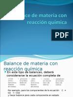 balance con reacciones quimicas