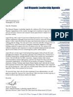 NHLA Letter to President Obama