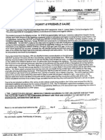 Affidavit of probable cause (page 10)