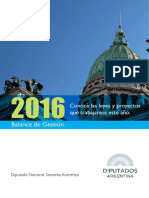 Balance de Gestión 2016 Proyectos