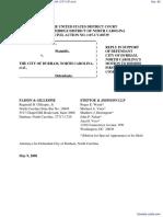EVANS et al v. DURHAM, NORTH CAROLINA, CITY OF et al - Document No. 65