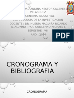 Cronograma y Bibliografia