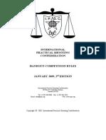 IPSC Handgun Competition Rules - Jan 2009, 2nd Edition A4 (Final)