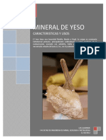 Informe sobre el mineral Yeso