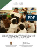 3. Recomendaciones Interculturales