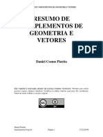 RESUMO DE COMPLEMENTOS DE GEOMETRIA E VETORES