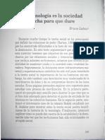 1998 Latour La Tecnología Es La Sociedad Hecha Para Que Dure