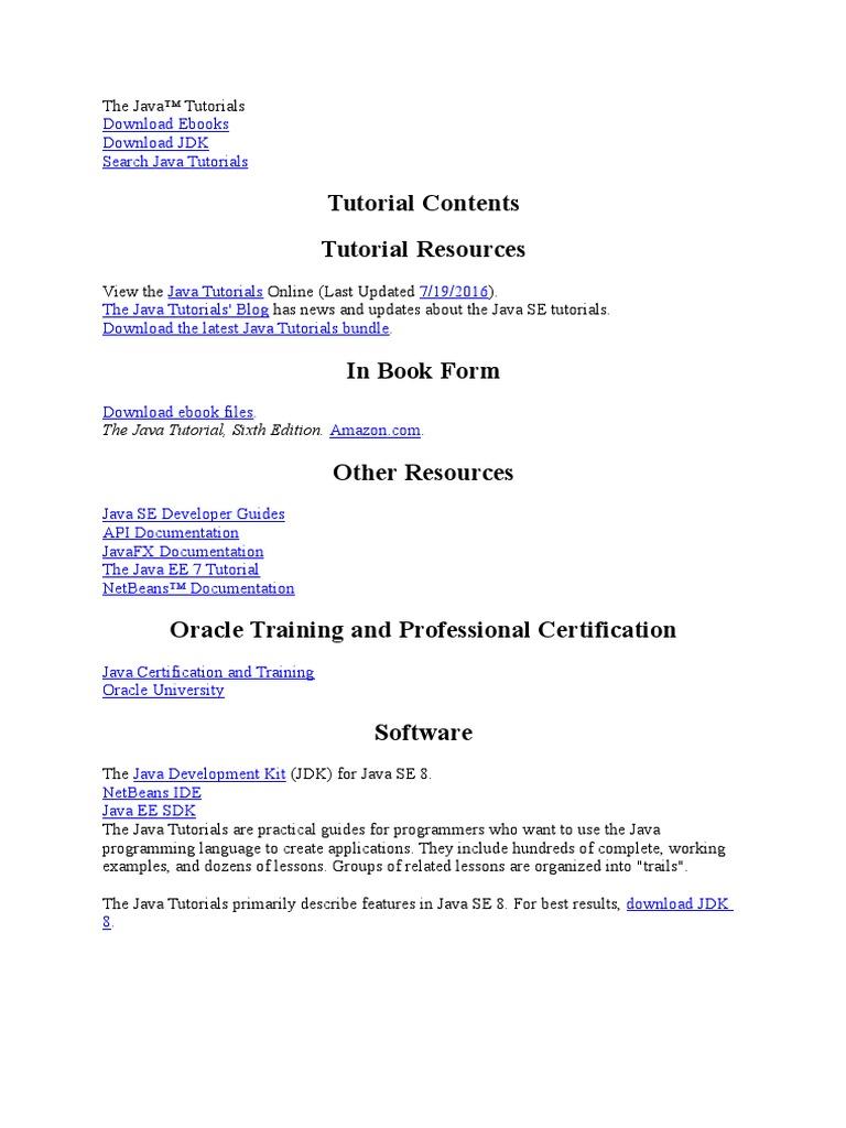 Certification java download 7 ebook