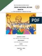 Historia de Los Paridos Politios en El Peru