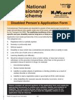 Disabled A4 43895 Lancashire