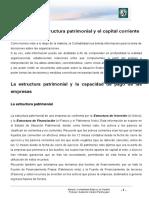 Lectura 5 Análisis de La Estructura Patrimonial y El Capital Corriente