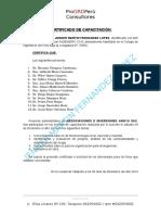 certificado capacitacion