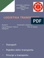 Logistika Transporta Ivana Mirkovic Prezentacija1