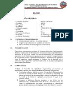 Silabo Mecánica de Rocas 2012-i