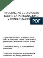 Influencias Culturales Sobre La Personalidad y Conducta Social